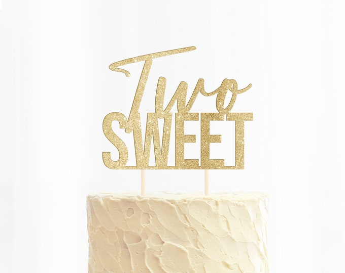 Two Sweet Cake Topper