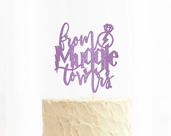 From Muggle To Mrs. Cake Topper