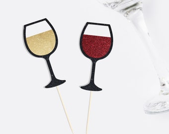 Wine Glass Cupcake Toppers