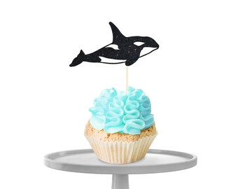 Orca Cupcake Toppers