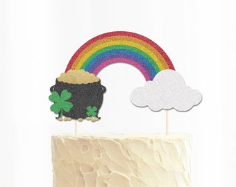 Pot of Gold St Patrick's Day Cake Topper