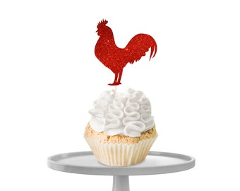 Rooster Cupcake Toppers