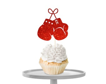 Boxing Gloves Cupcake Toppers