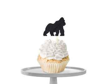 Gorilla Cupcake Toppers