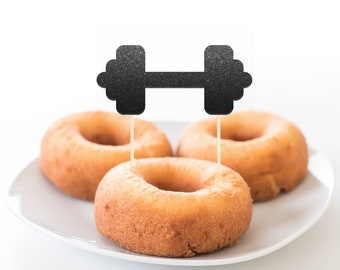 Dumbbell Cupcake Toppers