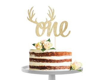 Antler One Cake Topper