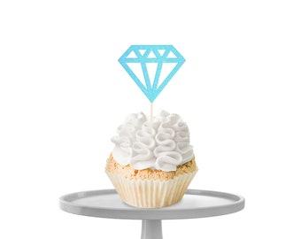 Diamond Cupcake Toppers
