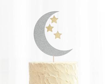 Moon & Stars Cake Topper