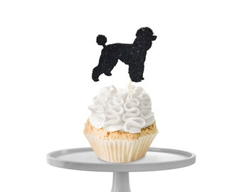Poodle Cupcake Toppers