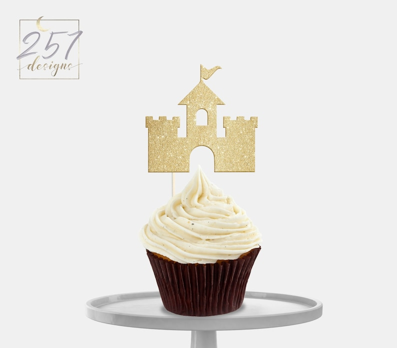 Wondrous Castle Cupcake Toppers Birthday Party Beach Theme Party Etsy Funny Birthday Cards Online Inifofree Goldxyz