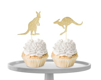 Kangaroo Cupcake Toppers