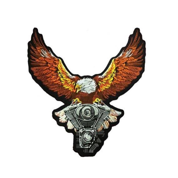 "LADY RIDER Eagle for Biker Motorcycle Vest Jacket Military Back Rocker Patch 10/"""