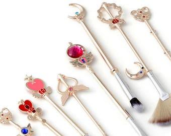 FREE SHIPPING - Sailor Moon Makeup Brushes Brush Set - CHAMPAGNE