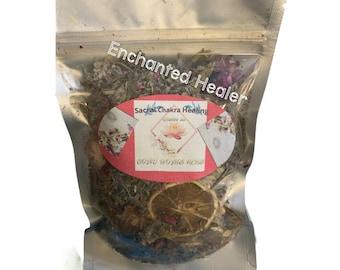YONI STEAM Organic vegan  Blend and Womb blend Lemon and Lavender scent. Yoni Steam bundles. Women Herbal blend