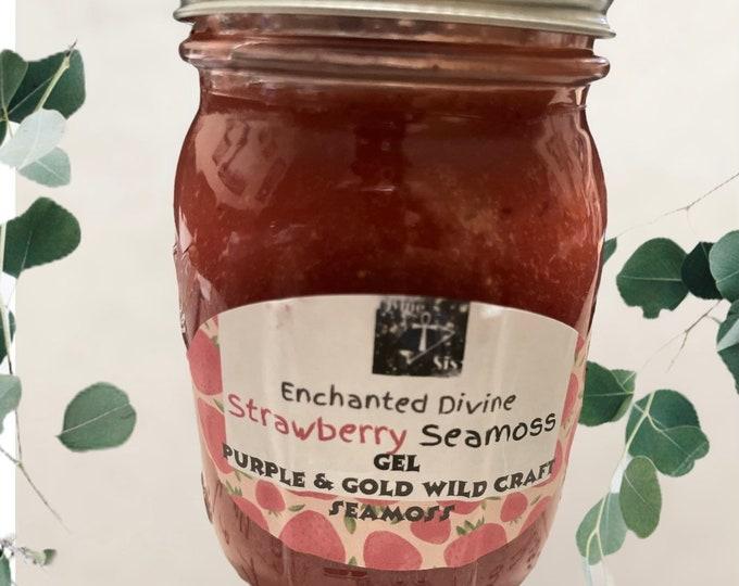 "Organic Flavored Seamoss Gel  Gold and Purple seamoss Dr. Sebi's ""Inspired"" Sea Moss Gel"