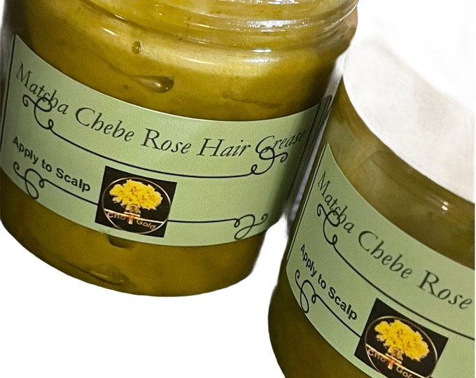 Matcha Chebe Sea Moss ,Aloe Vera hair cream  Growth Dr. Sebi inspired Hair Growth