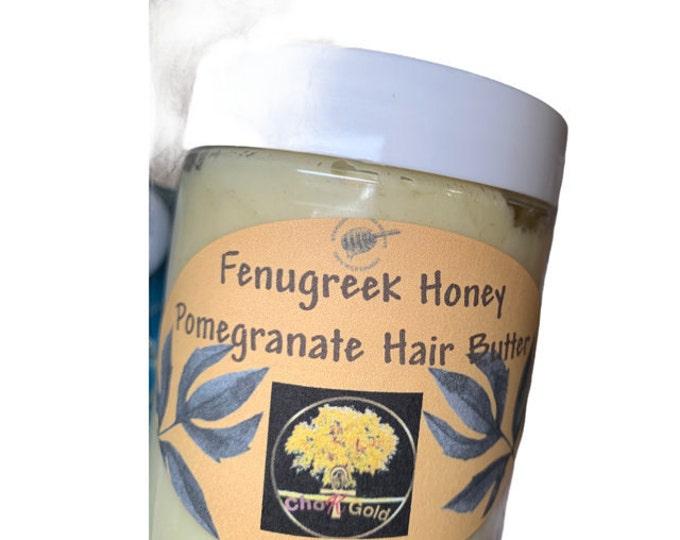 Goat Milk, Fenugreek  Pomegranate Hair Whip Butter with Seamoss