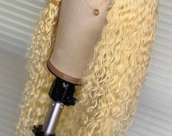 Custom Human Hair Lace Wigs 613 Blond wigs or color wigs