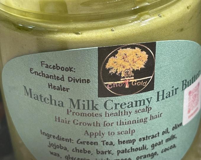 Matcha, Chebe, Sea Moss ,Aloe Vera, green tea, pomegranate. Amla  and healthier growth.  hair cream  organic Growth  Hair Growth