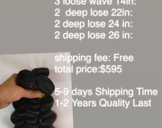 10A Unprocessed Human Hair Natural Black Bundles (Straight, Body Wave, Kinky Curly, Deep Wave, Loose Wave WholeSale vendor