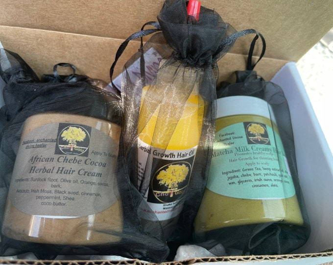 Hair Bundle Kit Seamoss Herbal Hair Growth African Hair Growth, Any Hair Type mix and match