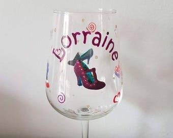Shoe Lovers Wine Glass