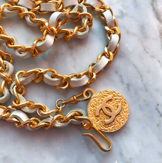 Chanel 1982 Evergreen Chain&Leather Belt