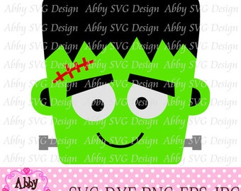 Halloween Frankenstein Cut File svg,png,dxf and eps file for the Cutting Machines