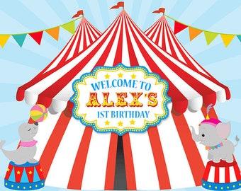 circus backdrop etsy