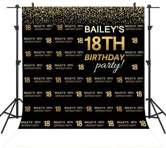 Custom 18th Birthday Photography Backdrops Personalized Step
