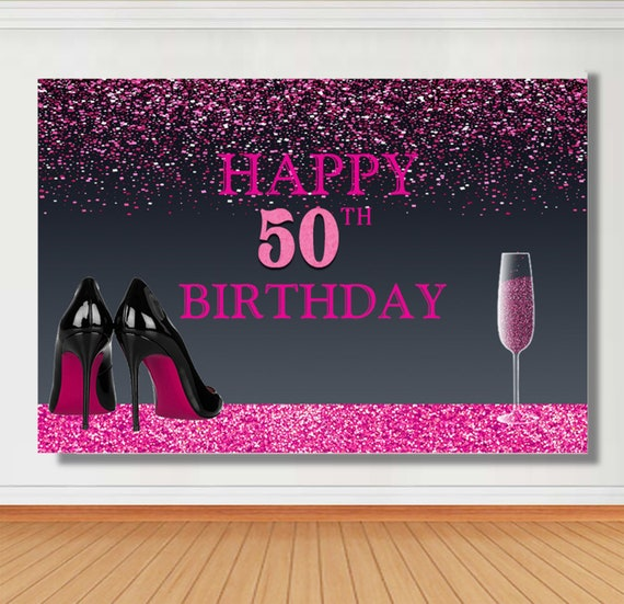 Personalized Women Happy 50th Birthday Party Photography