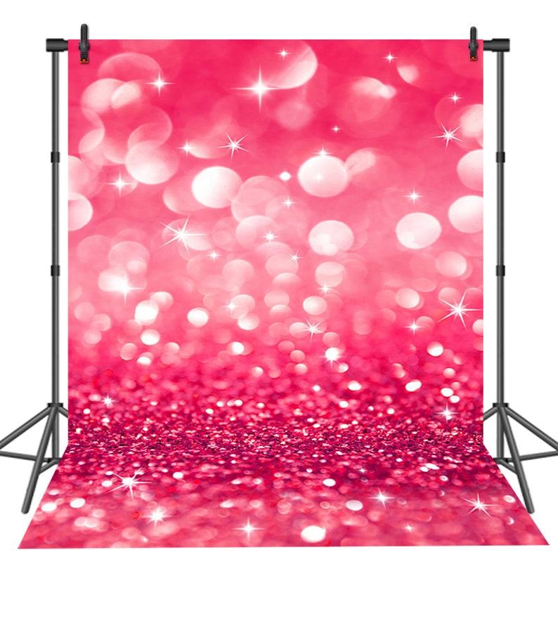 Hot Pink Sparkle Glitter Photography Backdrops Wedding Shiny Dots Bokeh  Backdrop Bridal Shower Party Studio Background
