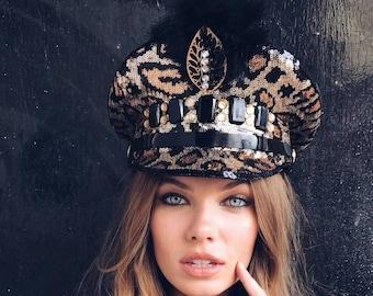 Wonderbaarlijk Kapitein hoed festival hoed militaire hoed Burning man hoed | Etsy CH-34
