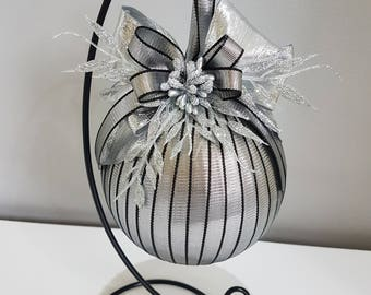 Christmas bauble on stand
