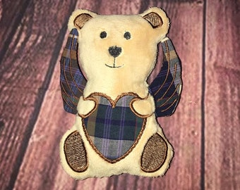 ITH Angel Bear Stuffie Embroidery Design - Embroidery Pattern - Memory Design - Memorial Bear