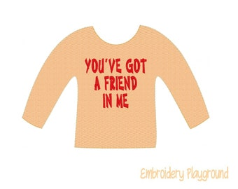 Friend in Me Elf Shirt Embroidery Design - Embroidery Pattern - Elf Clothes