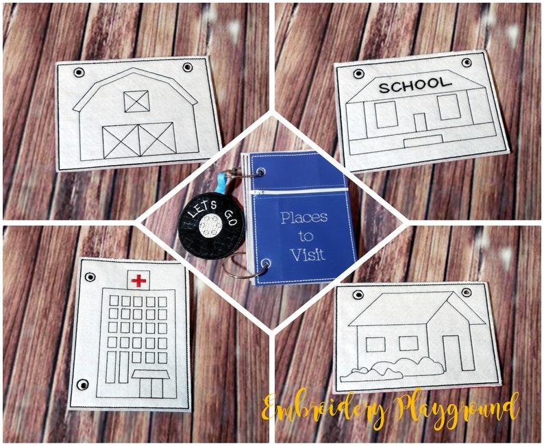 63bcb303c090b Places to Visit Coloring Book Embroidery Design - ITH Embroidery Design -  Reusable Coloring Book - Soft Book Design - Quiet Book Design