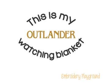 Outlander Watching Blanket Embroidery Design - Plush Blanket Design