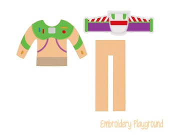 Spaceman Outfit Elf Clothes Embroidery Design - Embroidery Pattern - Elf Clothes