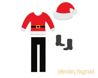 Santa Elf Clothes Embroidery Design - Embroidery Pattern - Elf Clothes