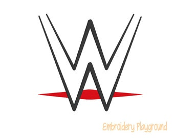 Wrestling Logo Embroidery Design