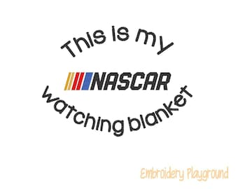 Nascar Watching Embroidery Design