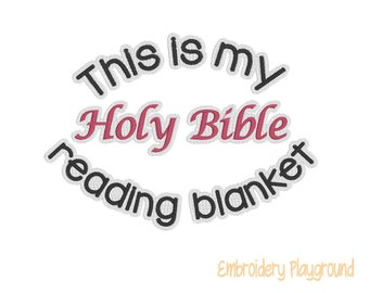 Holy Bible Reading Blanket Embroidery Design