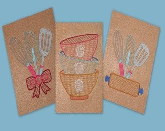 Kitchen Towel Designs - Embroidery Designs - Machine Embroidery Embroidery Designs -  Hand Towels - Kitchen Decor