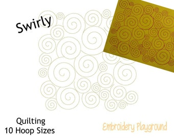 Swirly 2 Quilting- Reading Pillow Design - Embroidery Design