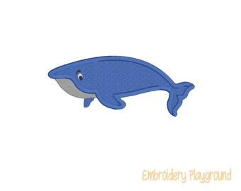 Whale Applique - Embroidery Design