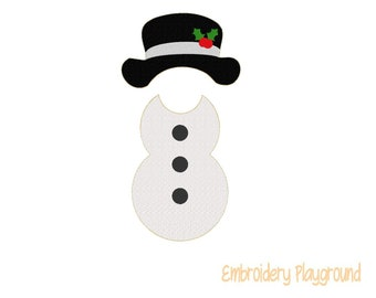 Snowman Outfit Elf Clothes Embroidery Design - Embroidery Pattern - Elf Clothes