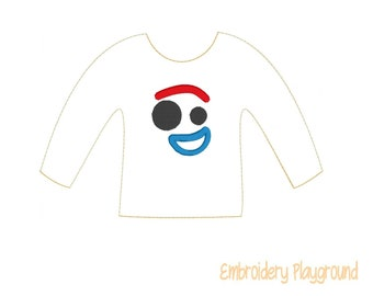 Fork Face Elf Shirt Embroidery Design - Embroidery Pattern - Elf Clothes