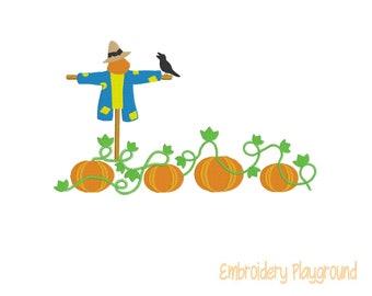 Field of Pumpkins - Towel Designs - Embroidery Designs - Machine Embroidery Designs - Hand Towels - Kitchen Decor