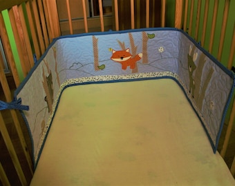 Baby bed bumper Forest